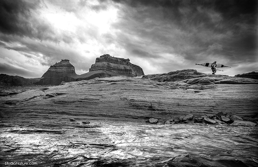 Kayak au Lac Powell - StudioNature.com